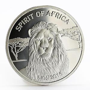 Burkina Faso 500 francs Spirit of Africa series The Lion silver coin 2016