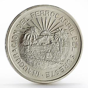 Mexico 5 pesos Opening of the Southeastern Railroad silver coin 1950
