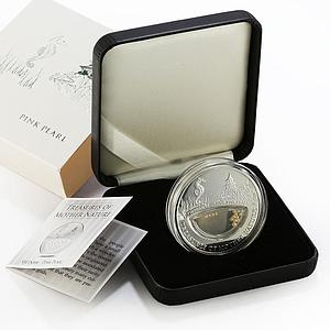 Fiji 1 dollar Treasures of Mother Nature Pink Pearl proof silver coin 2012