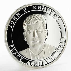 Malta 500 liras Champions for Peace series John Kennedy proof silver coin 2003