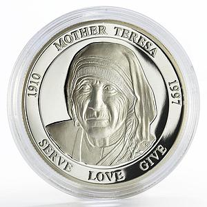 Malta 500 liras Champions for Peace series Mother Teresa proof silver coin 2003
