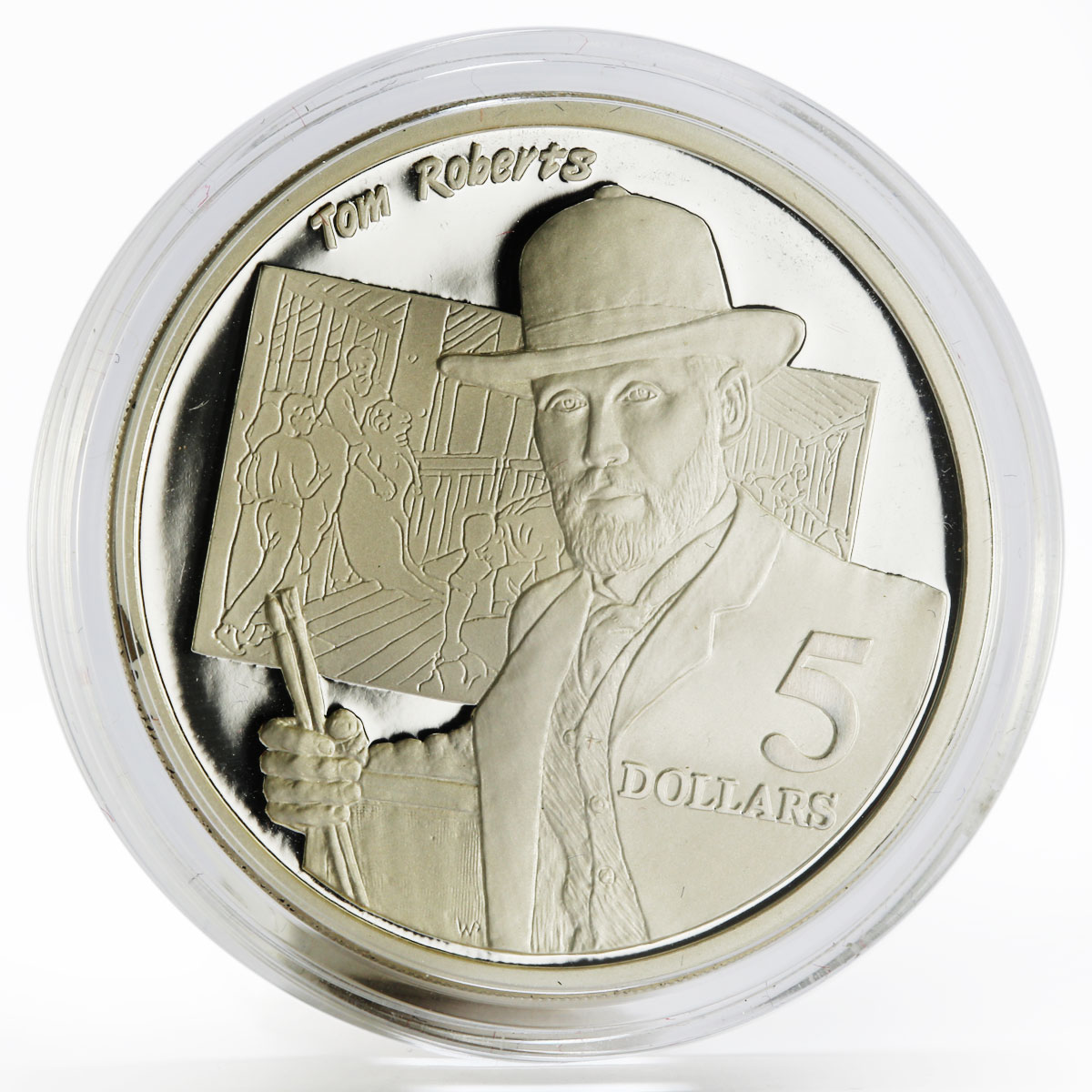 Australia 5 dollars National Identity series Tom Roberts proof silver coin 1996