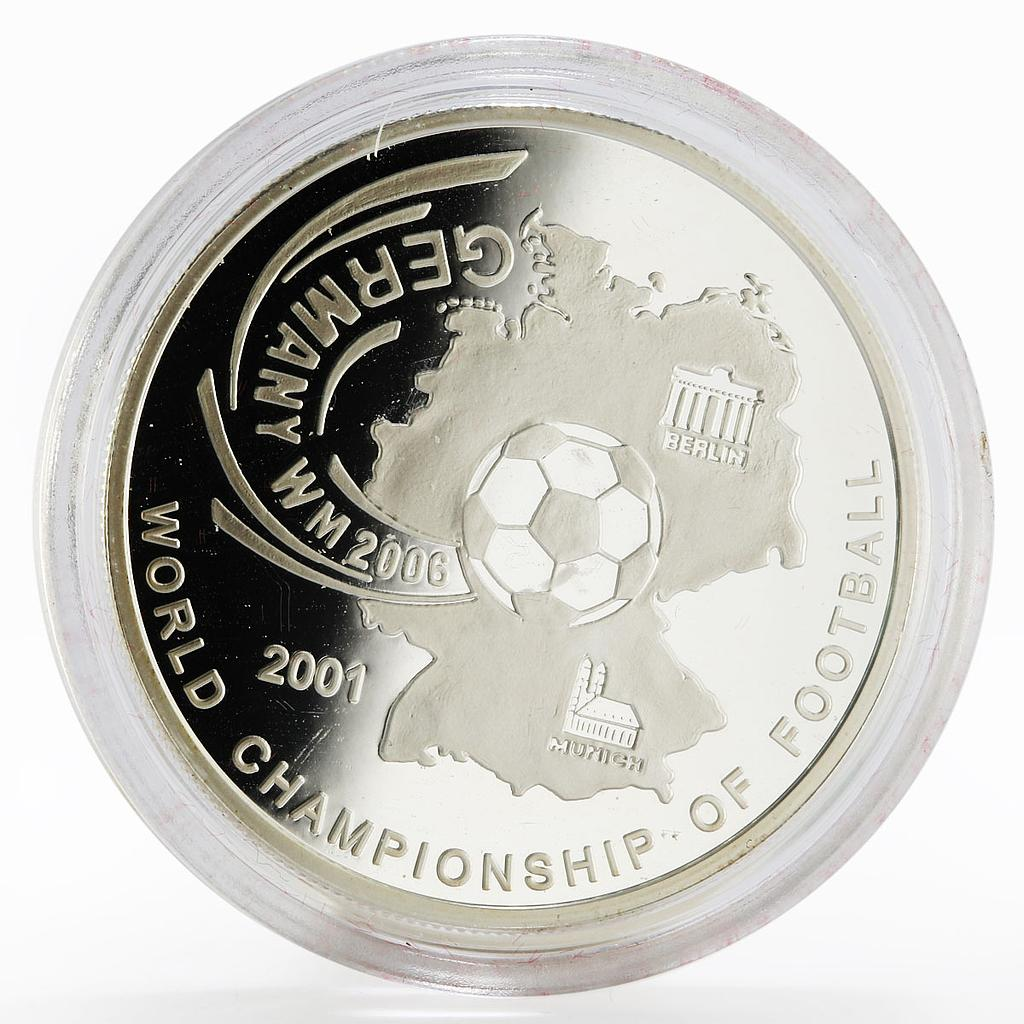 Afghanistan 500 afghanis Football World Cup in Germany proof silver coin 2001