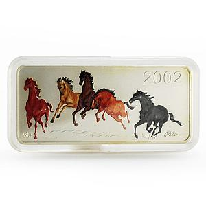 Mongolia 5000 togrog Year of the Horse proof silver coin 2002