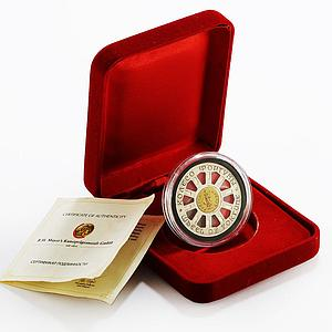 Niue 1 dollar Wheel of Fortune colored proof silver coin 2014