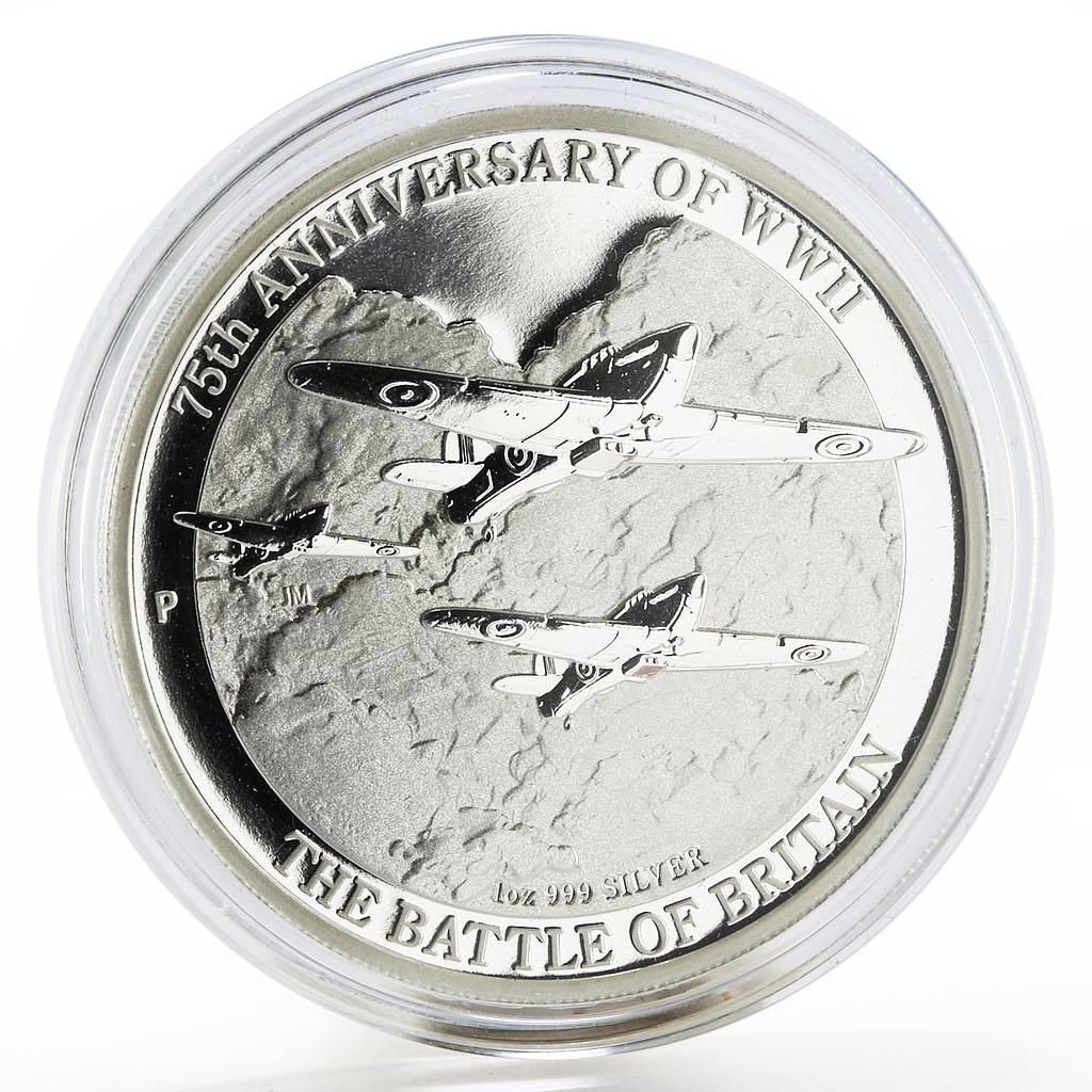 Australia 1 dollar 75 Years Since WWII The Battle of Britain silver coin 2015