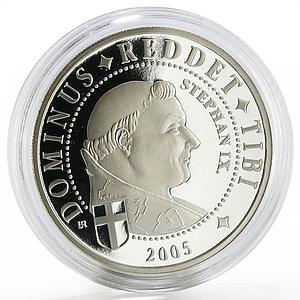 Congo 10 francs Pope Stephan the Ninth proof silver coin 2005