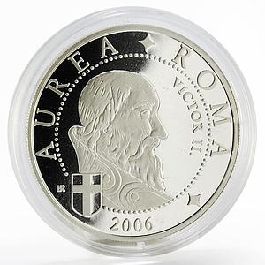 Liberia 10 dollars Pope Victor the Second proof silver coin 2006