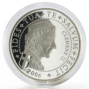 Liberia 10 dollars Pope Clemens the Third proof silver coin 2006