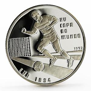 Guinea-Bissau 10000 pesos 15th World Football Cup proof silver coin 1994