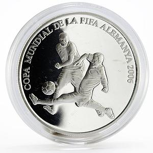 Andorra 10 diners Football World Cup in Germany proof silver coin 2006