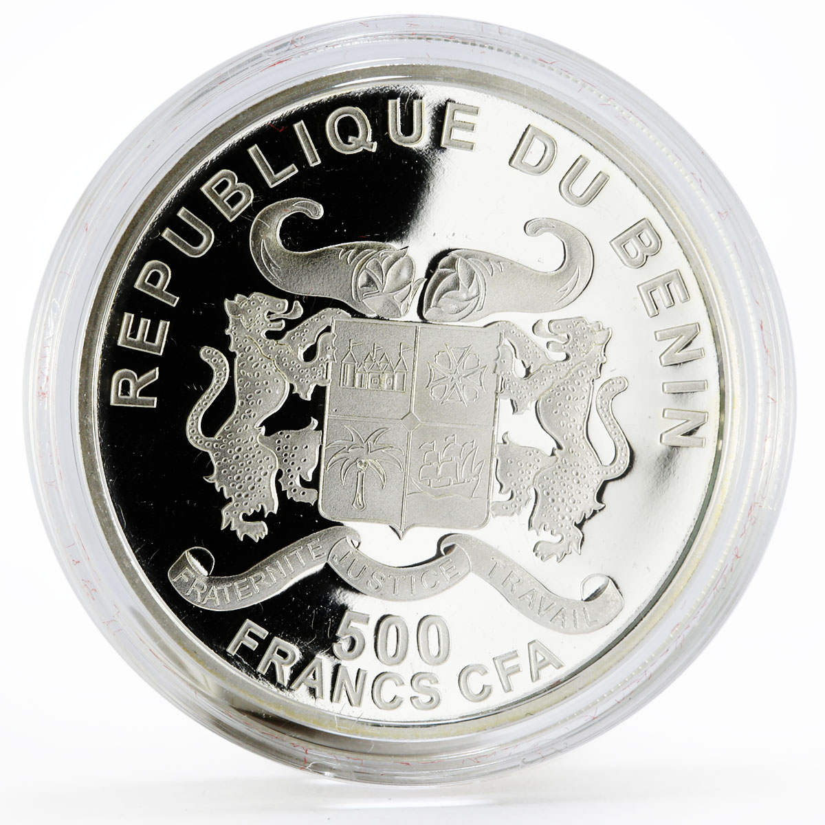 Benin 500 francs 85 Years of Vatican State Pope John Paul II silver coin 2014