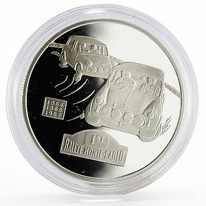 Alderney 5 pounds Mini Cooper series 50th Anniversary of Rally silver coin 2009