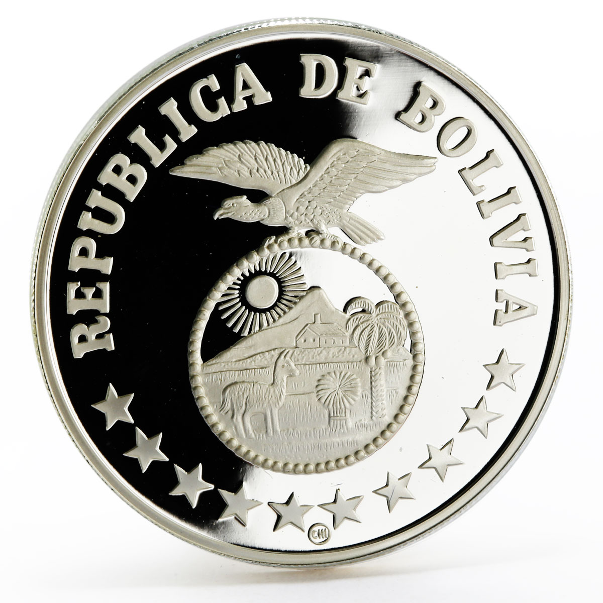 Bolivia 200 pesos International Year of the Child proof silver coin 1979