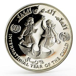 Yemen 25 riyals International Year of the Child  proof silver coin 1983