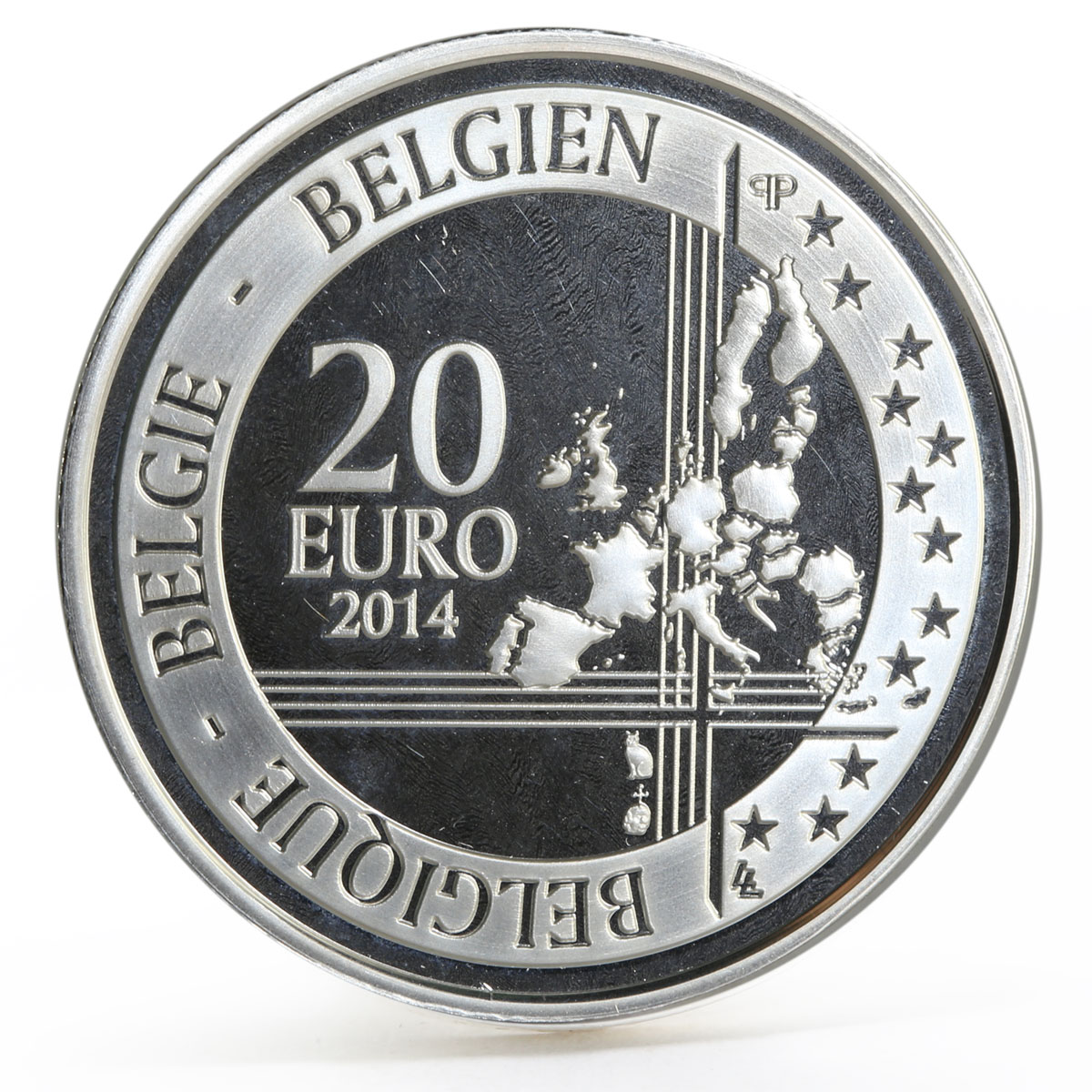 Belgium 20 euro 25th Anniversary of the Fall of the Berlin Wall silver coin 2014
