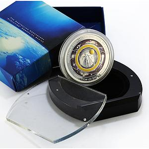 Australia 10 dollars Kookaburra Evolution of Knowledge proof silver coin 2005