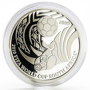 Palau 5 dollars Football World Cup in South Africa The Rhino silver coin 2009