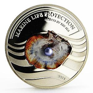 Palau 5 dollars Secrets of the Sea Marine Life Protection proof silver coin 2013