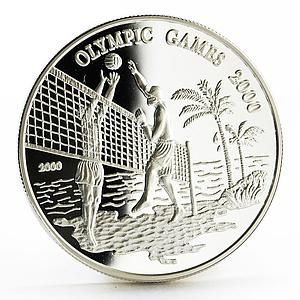 Samoa 10 dollars Sydney Olympic Games series Volleyball proof silver coin 2000