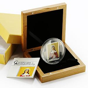 Cook Islands 5 dollars Patron Saints series St Tatiana proof silver coin 2011