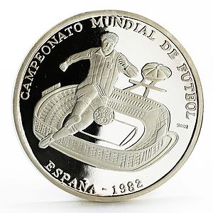 Sahrawi 1000 pesetas FIFA World Cup Spain Football 1982 silver coin 2002