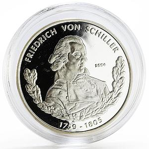 Togo 1000 francs German Themes series Friedrich Von Schiller silver coin 2004