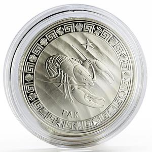 Tokelau 5 dollars Zodiac Signs series Cancer silver coin 2012