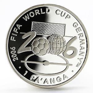 Tonga 1 paanga 18th Football World Cup in Germany Field proof silver coin 2004