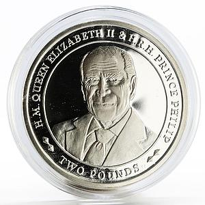 Sandwich Islands 2 pounds 70 Years of Marriage of Prince Philip silver coin 2017