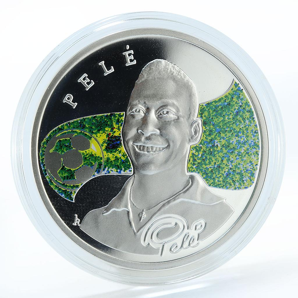 Armenia 100 drams Pele football Kings Brazil ball silver coloured proof 2008