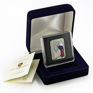 Niue 1 dollar Saint Ksenia of Petersburg Religion colored proof silver coin 2012