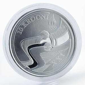 Estonia 10 krooni, XXI Olympic Winter Games in Vancouver, silver proof coin 2010
