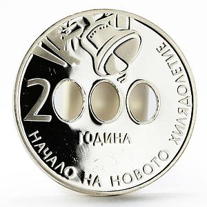 Bulgaria 10 leva The Beginning of the New Millennium proof silver coin 2000