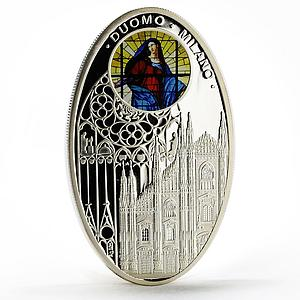 Niue 1 dollar Gothic Cathedrals series Milan Cathedral proof silver coin 2010