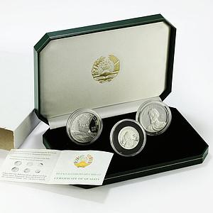 Tajikistan set of 3 coins 20th Anniversary of Independence silver coins 2011