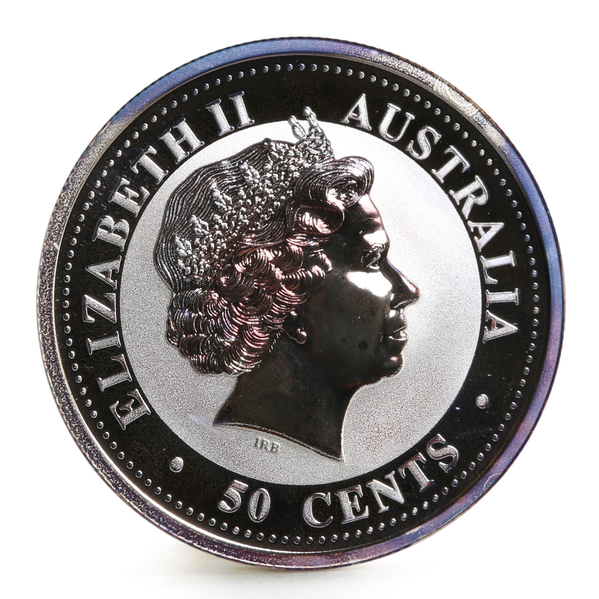 Australia 50 cents Lunar Calendar series I Year of the Goat silver coin 2003