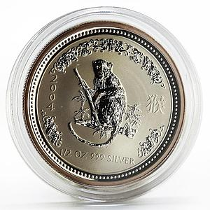 Australia 50 cents Lunar Calendar series I Year of the Monkey silver coin 2004