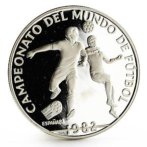Panama 10 balboas Football World Cup in Spain Two Players proof silver coin 1982