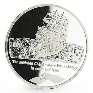 Congo 10 francs Panama Canal series Sailing Ship proof silver coin 2000