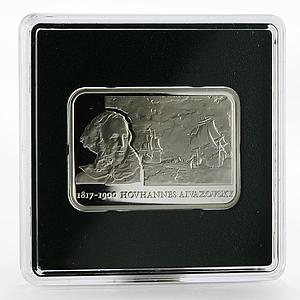 Armenia 100 dram Painter Hovhannes Aivazovsky Art Ship proof silver coin 2006