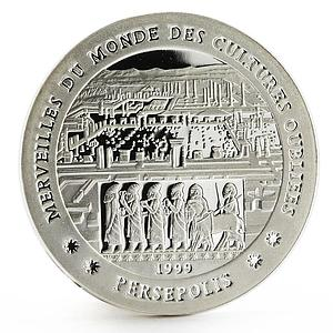 Chad 1000 francs Forgotten Cultures series Persepolis proof silver coin 1999