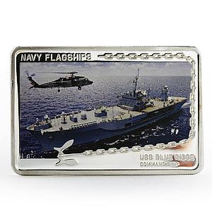 Tanzania 500 shillings Navy Flagships series USS Blue Ridge silver coin 2014