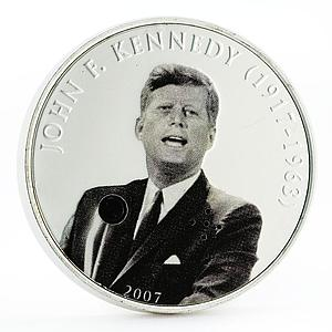 Mongolia 500 togrog Famous Politicians series John F. Kennedy silver coin 2007