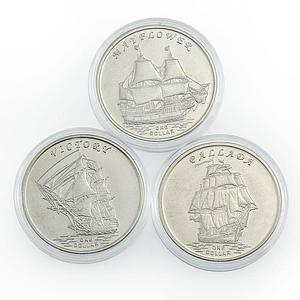 Gilbert Islands set of 3 coins Ships 2014