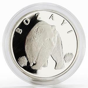 Turkey 20 lira Animal series Brown Bear Grizley proof silver coin 2005
