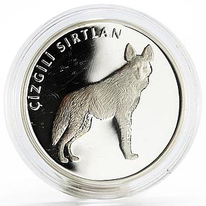 Turkey 20 lira Animal series Striped Hyena proof silver coin 2005