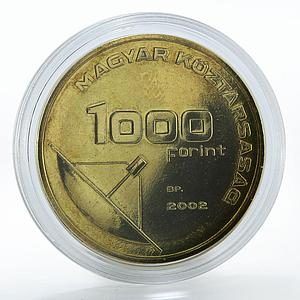 Hungary 1000 Forint Message - Mercury bronze coin 2002
