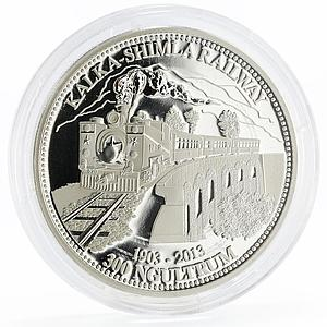 Bhutan 300 ngultrums Kalka - Shimla Train on the Railway silver coin 2013
