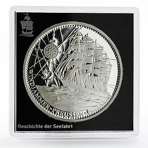 Cook Islands 2 dollars History in Ships series Preussen Ship silver coin 2015